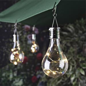 solar light bulb urban garden. Black Bedroom Furniture Sets. Home Design Ideas