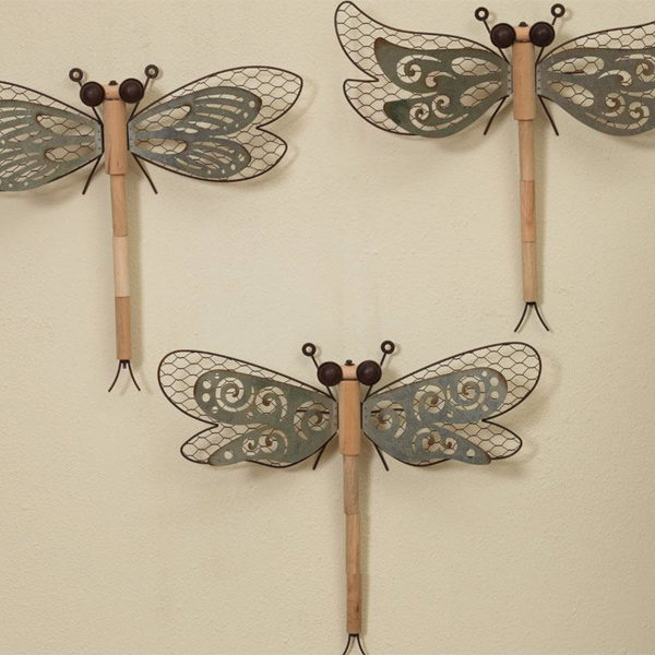 Wood & Metal Dragonfly