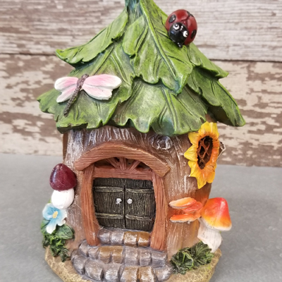 Lighted Woodland Gnome House