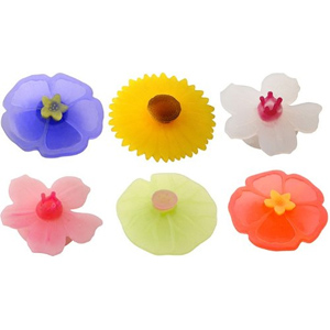 6-Pack Floral Drink Markers