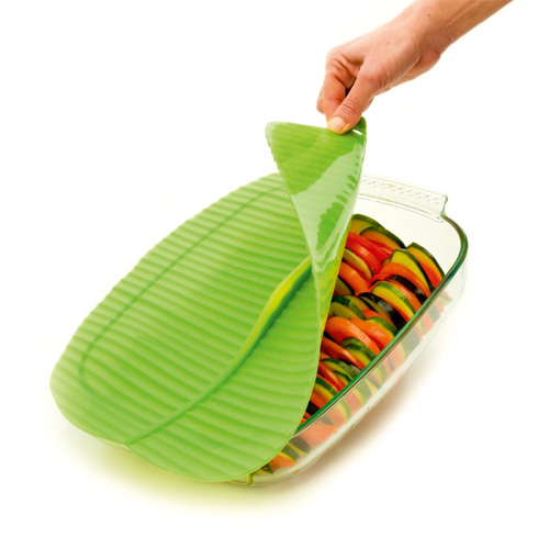 Rectangle Banana Leaf Silicone Lid