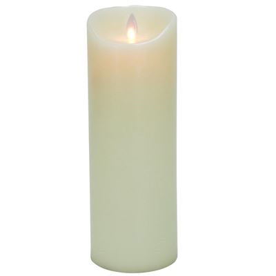 9-Inch Mystique Flameless Wax Pillar Candle