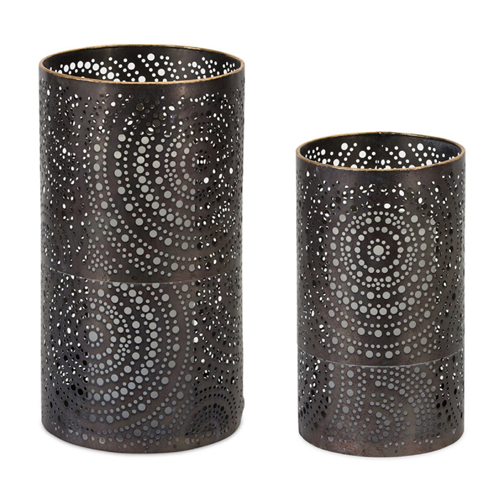 Metal Scroll Candle Holder, 10