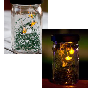 Flickering Solar Firefly Jar