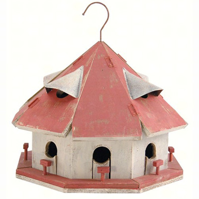 Red Roof Birdhouse Motel