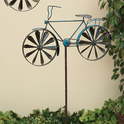 Blue Bicycle Wind Spinner