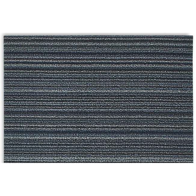 Skinny Stripe Blue Doormat