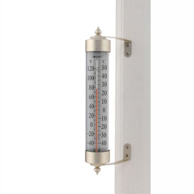 Grande View Thermometer, Satin Nickel