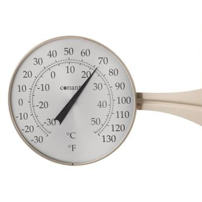 Dial Thermometer, 8-inch Satin Nickel