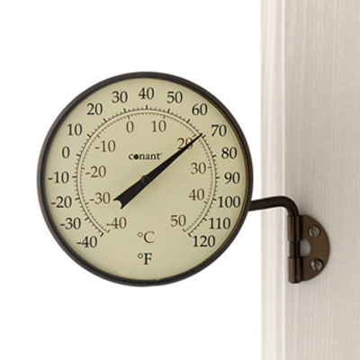 Dial Thermometer, 4-inch Bronze Patina