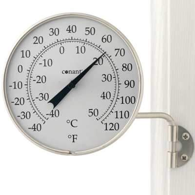 Dial Thermometer, 4-inch Satin Nickel