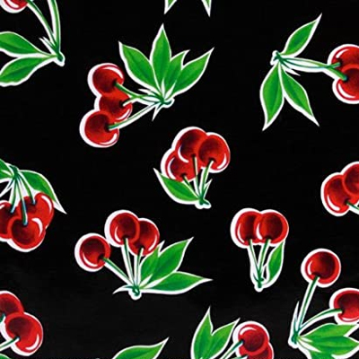 Black Cherry Oilcloth Fabric