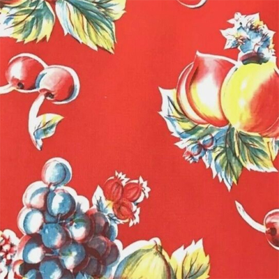 Red Fruit Oilcloth Fabric