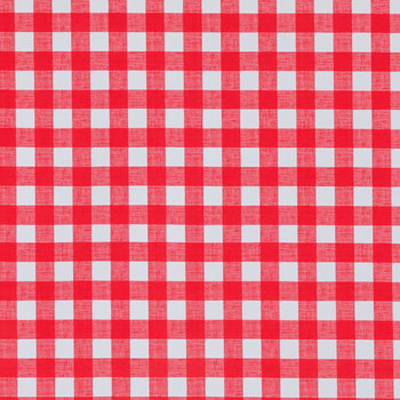 Red Cafe Check Oilcloth Fabric