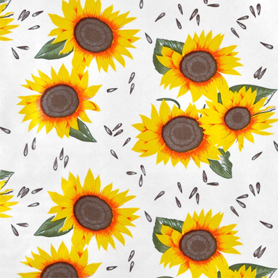 Sunflower Oilcloth Fabric