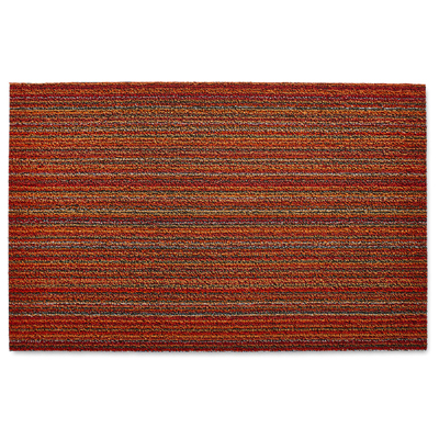 Skinny Stripe Orange Doormat